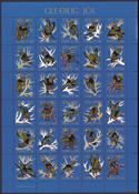 Vignettes de Noel Féroé 1992 Oiseaux de Noel