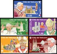 Vatikanet - Pavens rejser - Postfrisk sæt 5v