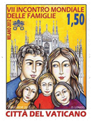 Vatican - Journée familiale internationale - Timbre neuf