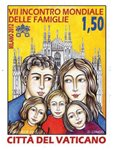 Vatican - Journée familiale internationale - Timbre neuf