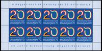 Allemagne - 20 ans ouverture des frontières - Feuille neuve