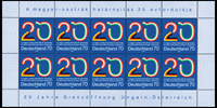 Tyskland - 20 år grænseåbning - Postfrisk 10-ark