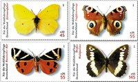 Tyskland - Sommerfugle - Postfrisk sæt 4v