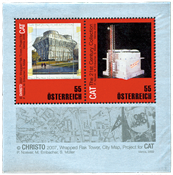 Autriche - Architecture Christo - Bloc-feuillet neuf
