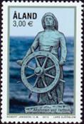 Åland - Le timonier - Timbre neuf