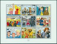 Belgien - Tegneserier - Postfrisk miniark