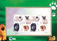 Kina - Hunde - Flot souvenirmappe med utakket ark