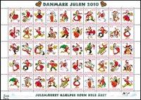 Denemarken - Kerstzegels 2010 - Postfris vel