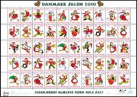 Danimarca - Natale 2010 - 50 chiudilettera - foglio nuovo