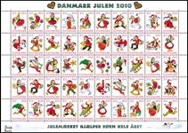 Danmark - Julemærkeark 2010 - Postfrisk juleark