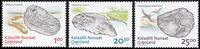 Grønland - Fossiler - Postfrisk sæt 3v