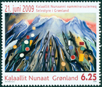 Groenland - Indépendance '09 - Timbre neuf