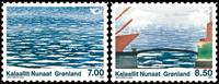 Grønland - Nordiske kyster - Postfrisk sæt 2v
