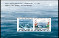 Grønland - Nordiske kyster - Postfrisk miniark