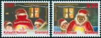 Grønland - Jul 2010 - Postfrisk sæt 2v