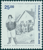 Grønland - Thule 100 år - Postfrisk frimærke