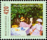 Ungarn - Ferenczy Kóroly - Postfrisk frimærke