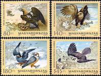 Ungarn - Rovfugle - Postfrisk sæt 4v