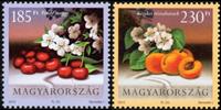 Ungarn - Frugter - Postfrisk sæt 2v
