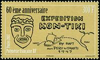 Fransk Polynesien - Kon Tiki - Postfrisk frimærke