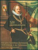 Liechtenstein - Karl I - Postfrisk miniark