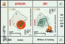 Montenegro - Europa 07, Scoutisme - Bloc-feuillet neuf