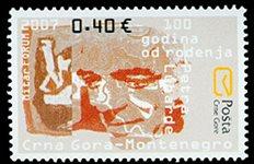 Montenegro - 100è An. Petra Lubarde - Timbre neuf