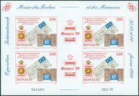 Monaco - Bloc-feuillet d'exposition philatélique - Bloc-feuillet neuf non-dentelé