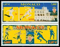 Monaco - 75året for Monacos sportsorganisation - Postfrisk parstykke