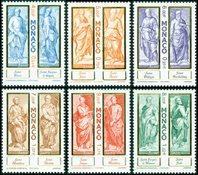 Monaco - Apostlene - Postfrisk sæt 6v