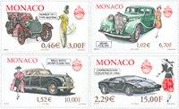 Monaco - Biler og mode - Postfrisk sæt 4v