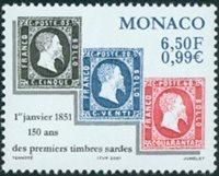 Monaco -  Timbres sardes '01 - Neuf