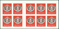 Monaco - Armoiries - Carnet neuf