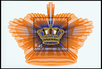Holland - Kongedømmet 200 år - Postfrisk miniark