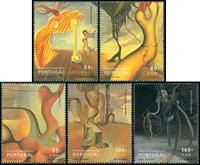 Portugal - Surrealistisk kunst - Postfrisk sæt 5v