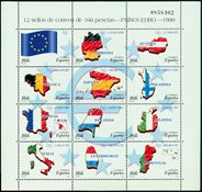 Spanien - Eurolande - Postfrisk miniark