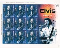Sverige - Elvis - Souvenirark - Souvenirark med 9 mærker.