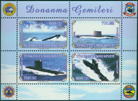 Tyrkiet - Undervandsbåde - Postfrisk miniark