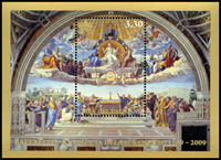 Vatikanet - Det hellige Sakramente - Postfrisk miniark