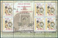 Vatikanet - Haiti hjælp - Postfrisk ark