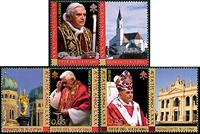 Vatikanet - Paven Benedikt XVI - Postfrisk sæt 3v