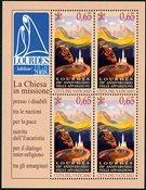 150.Lourdes ark (2) * - Postfrisk sæt miniark
