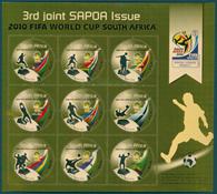 Afrique du sud - SAPOA /Football - Feuille neuve de 9 timbres