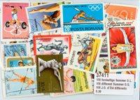 100张不同夏季奥运会邮票