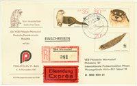 DDR Dienstzegels, aanget./express