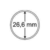 Capsules pour pièces de monnaie diamètre intérieur  26,6 mm