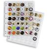Pochettes plastiques ENCAP, transp. pour 42 muselets de champagneet capsule