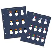 Feuilles Numismatiques VISTA,pour pièces commémoratives de2 Euros *DEK*