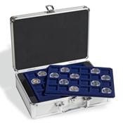Møntkuffert inkl. 6 mønt bakker (Til 144 2-EURO  mønter i kapsler)