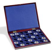 Coffret Numismatique VOLTERRA UNO de luxe, pour 35pièces de 100euros or en